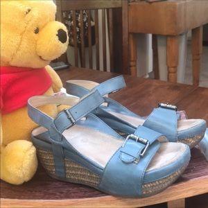 103059674cc bussola Shoes - Bussola Sandals Baby Blue Wedge Formentera 39